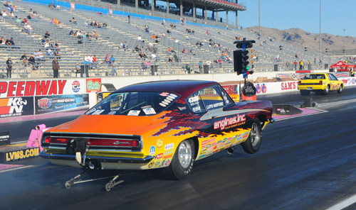 Lloyd Woolford may have lost first round in Comp, but his Hemi Cuda is going into Sunday's finals