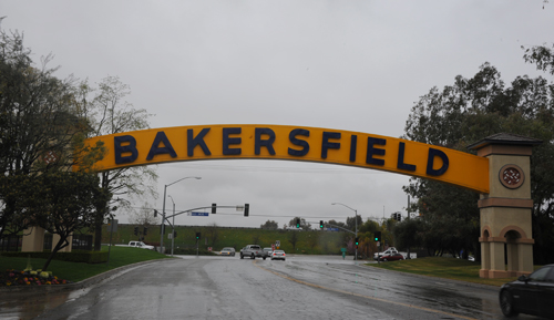 The iconic Bakersfield sign says it all...wet weather