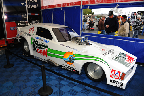Recently restored Chevy Funny Car of John Force was on display