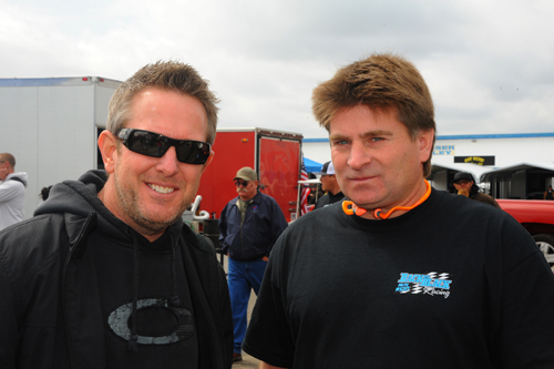 Former NHRA Funny Car drivers Tommy Johnson Jr and Cory Lee