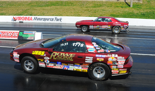 Two Red Camaros and two great drivers in the finals of Stock and someone had to lose