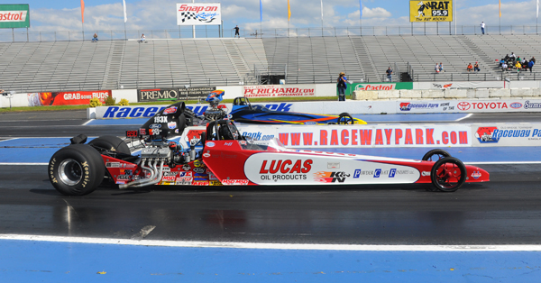 Former Lucas Oil Champ took Jeff Kundratic's dragster to the semis of Super Comp