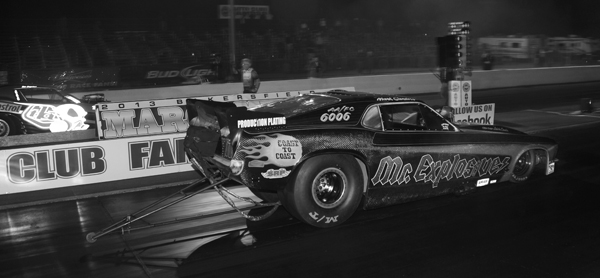The finals of Funny Car at the March Meet in Bakersfield CA in March
