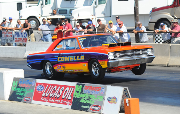 Second generation racer Steve Comella made big noise in the NED going rounds in his 68' Hemi Dart