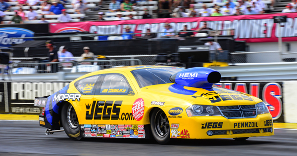 Jeg Coughlin took his Allen Johnson powered Mopar to the 2013 Mellow Yellow Pro Stock title