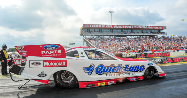 After 2014, Ford racer Bob Tasca III will have to look for another major sponsor as the Blue Oval will no longer put money into the NHRA Pro catagory