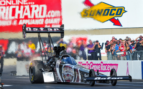Shawn Langdon took the Mellow Yellow title in Top Fuel in the Al Anabi Racing dragster