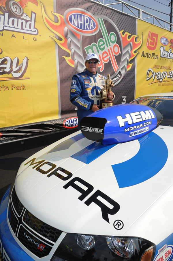 Allen Johnson almost pulled off defending his 2012 NHRA Pro Stock title taking second place behind teammate Jeg Coughlin