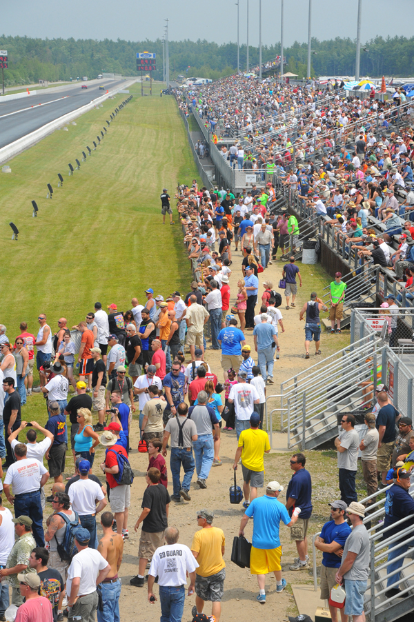 One big crowd at Epping during the first major NHRA event in the track's history