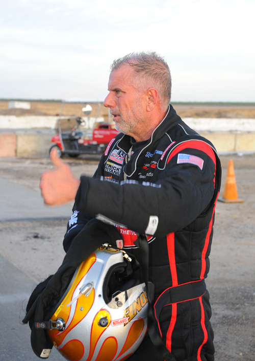 It's thumbs up for NY racer Tony Bartone after grabbing the #1 spot in Top Fuel