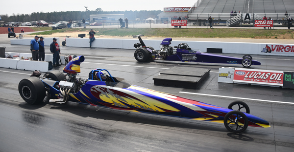 Rcik Bell (near lane) beat  in the finals of Top Dragtster