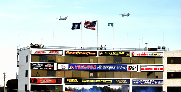 The local Fort Lee Army post did a Fly By during Friday's action