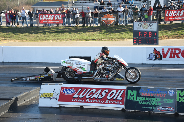 Big times at VMP in Top Fuel Harley