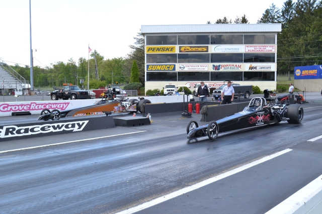 Smith driviing his X dragster took to wins over the weekend
