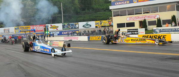 Great side by side qualifying in the second session put Shields (near lane) in the #1 spot