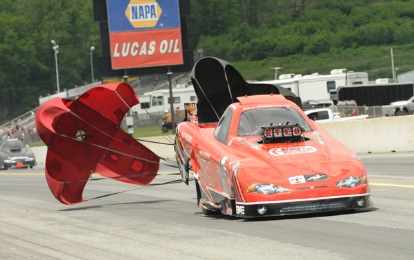 Mickey Ferro's slows down after his low qualifying pass