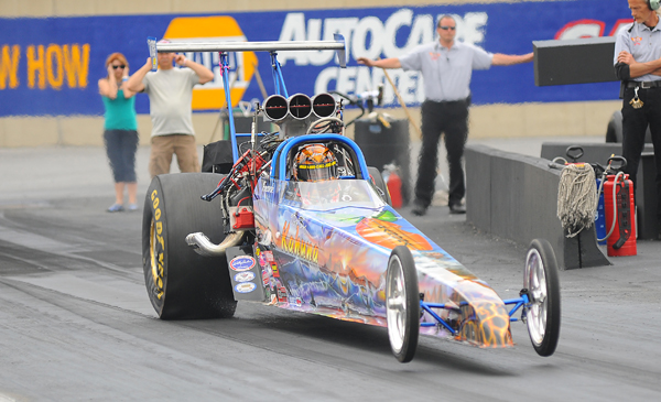 "#1 Qualifier in T/D was the blown ""Big Kahuna"" dragster of Frank"