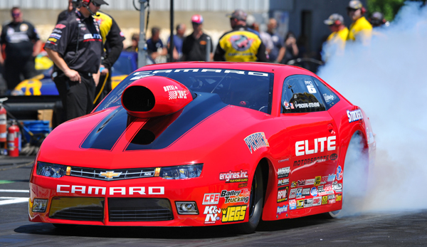 NHRA Points leader set the pace in Pro Stock with a mind blowing low ET of 6.464 seconds at 215.55 MPH