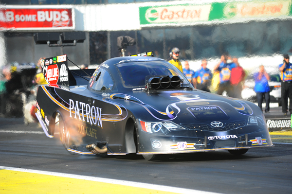 Alexis DeJoria went to R2 in the Patron car