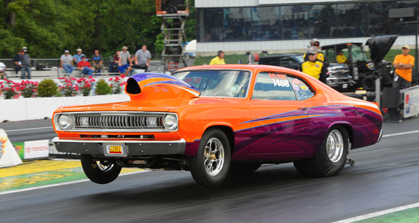 Best Engineered went to recent Best Appearing car at Maple Grove, the super nice 1971 Duster driven by 2013 Super Stock winner Brian Martel