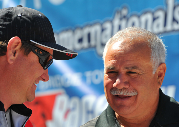 NED favorite Frank Manzo chats with FC driver Chad Head