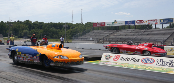 Sawyer's double came at the expense of long time NJ racer Tom Stalba in the finals of Super Gas