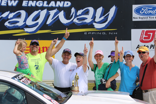 Don Belle's Mustang has been log qualifier in 2014 but this time he took it all winning Super Stock