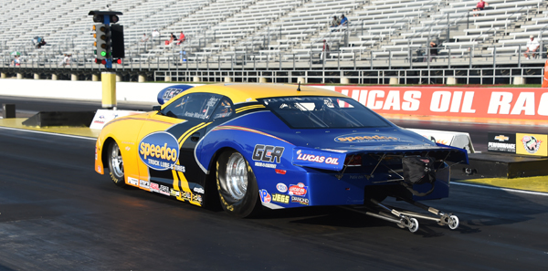 Tewksbury MA racer Arnie Martel is currently #7 in Comp with his  E/AA '15 Camaro at a 0.573 under    7.727