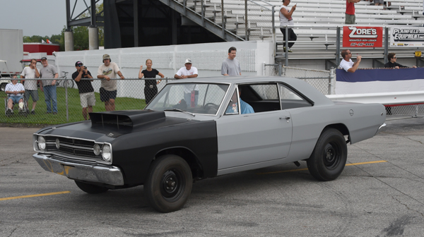 The Hemi parade had an original 1968 Dart leading the field down the return road