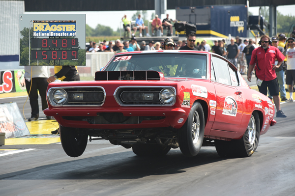 Rick Houser laid down low ET of the meet for the Hemis with a 8.488 @158.89