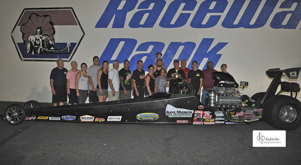 Kenny Moses won his second Top Dragster title at Englishtown
