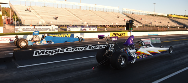 Top Dragster went to Joe DiPasquale who had a much better light than his competition, Michael Esposito (near lane)