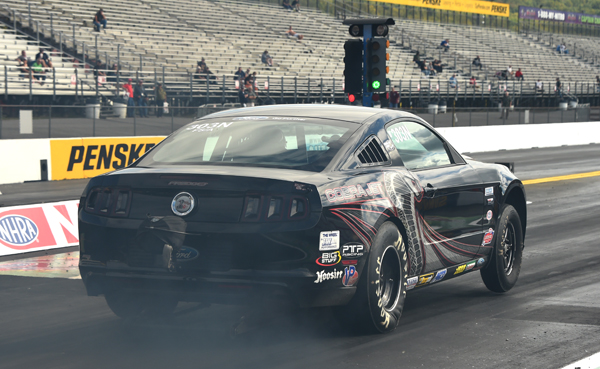 Skinner's Mustang was flying all day but just came up a little short in the finals against Barton's Mopar