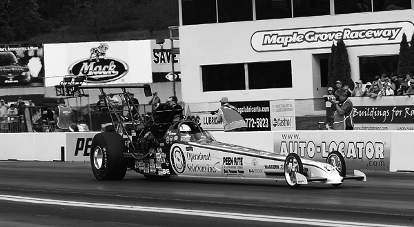 2014 Lucas Oil Top Alcohol Dragster champ Chris Demke