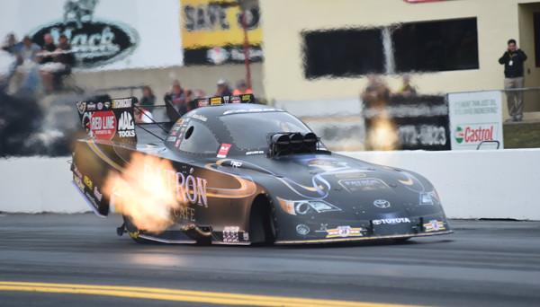Recent US Nationals winner Alexis DeJoria has her Toyota in the # 9 position with a 4.087
