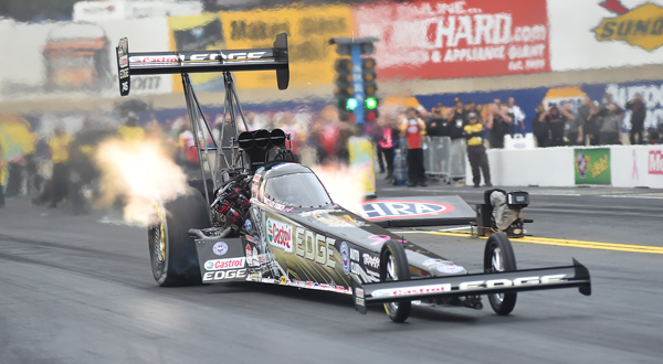 #2 in Top Fuel qualifying, Brittany Force, Yorba Linda CA, with a   3.765