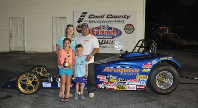 Aragona and his great family after his Cecil County LODRS win