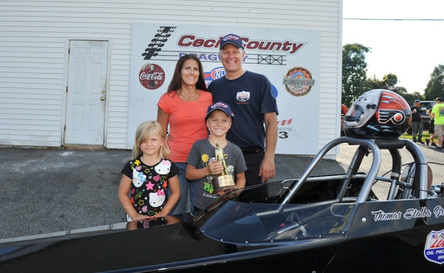 Karen, Tom, and the kids after his win at the Atco/Cecil event in August