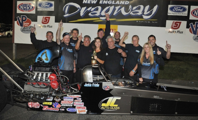 2014 was Jackie Fricke's break out year as the NJ Alcohol Dragster