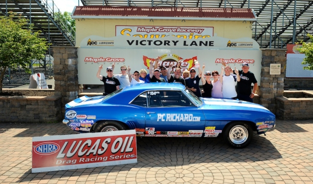 Fetch won the Stock title at the Grove on Memorial Day weekend behind the wheel of the PC Richard and Son Camaro
