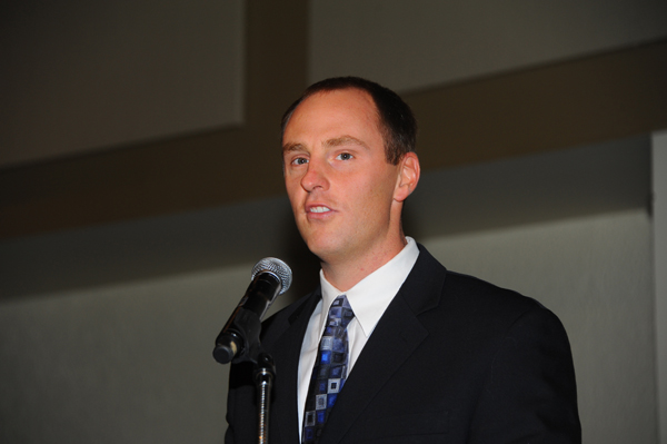 Josh Peterson, NHRA VP Racing Administration was attending the banquet as the NHRA home office rep.
