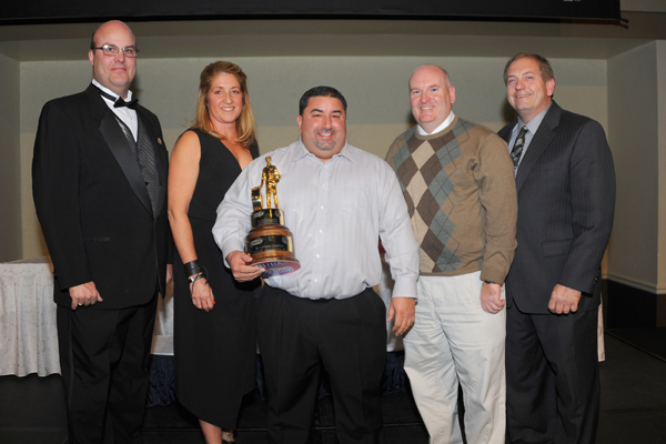 2014 Comp Champ Frank Aragona Jr with team members Michelle Costa and Steve Szupka