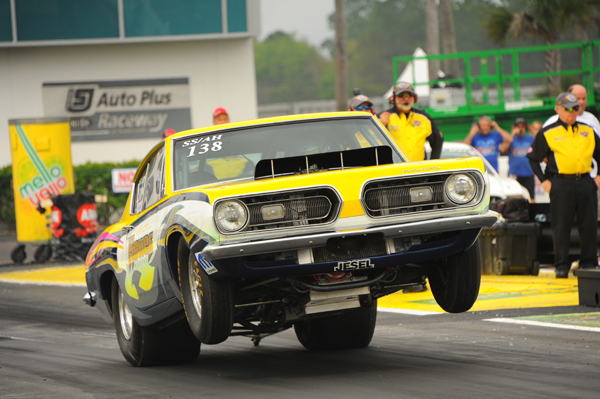 Wendell Howes' high flying Cuda went out in R1