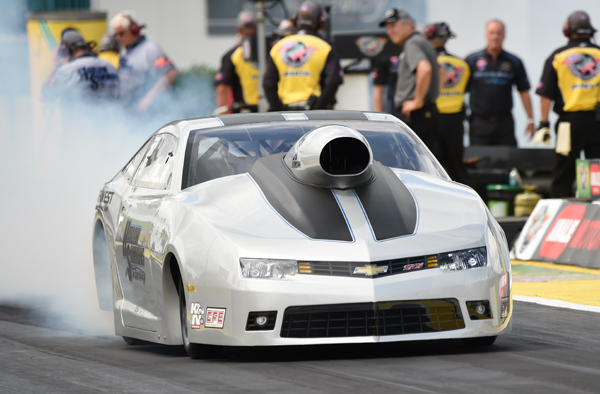 McGaha led the Pro Stock category after two sessions with a run of 6.507 at 212.73 in a Chevy Camaro. McGaha, who set career-bests for both time and speed at Gainesville, is going for his third No. 1 qualifying effort of his career.