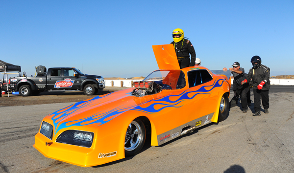 Marcus Lawson failed to crack the tough Funny Car field in his ex Dale Pule Firebird