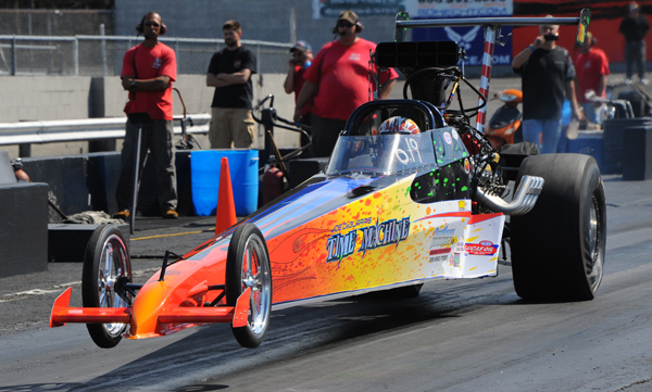Low Qualifier in Top Dragster was the blown car or Joe De Marzo from Mahopac NY