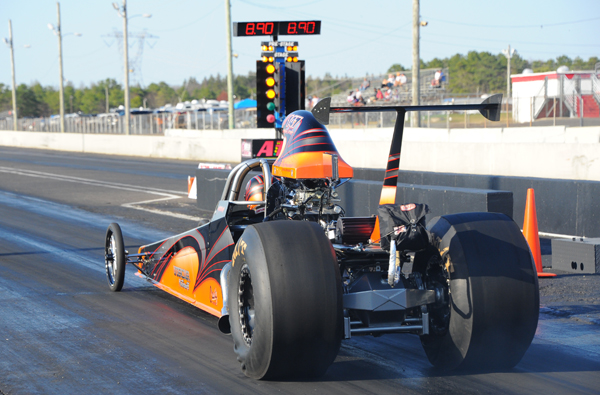 Josh Eastburn took the family dragster to the finals of Super Comp