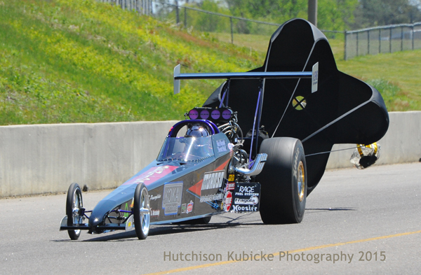 Low qualifier in Top Dragster, Scott Hall