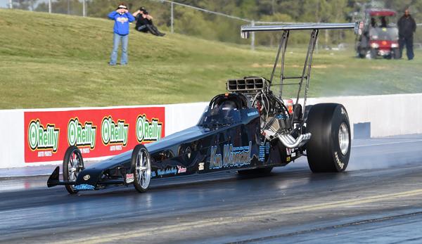 Earl Nichols has the Ken Winward dragster on the bump at VMP