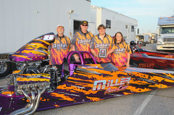 Ray Miller's Super Comp dragster was awarded Best Appearing